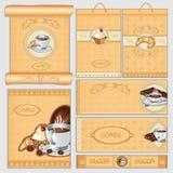 Van het de suiker cacke pak van de koffiethee de kaartreeks Royalty-vrije Stock Foto