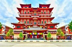 Van het de Tandoverblijfsel van Singapore - van Boedha de Tempel en het Museum Royalty-vrije Stock Foto