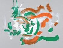 Van het de tekeningswater van kinderen de kleurenverven royalty-vrije stock foto's