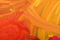 Van het de tekeningswater van kinderen de kleurenverven Royalty-vrije Stock Afbeelding