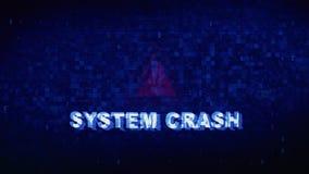 Van het de Tekst Digitale Lawaai van de SYSTEEMneerstorting de Krampglitch Vervormingseffect Foutenanimatie stock video