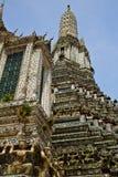 van het de tempeldak van Azië Thailand de paleizengodsdienst wat Stock Afbeeldingen