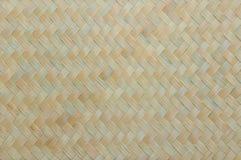 Van het de textuur natuurlijke bamboe van het Handcraftweefsel de muurachtergrond Royalty-vrije Stock Fotografie