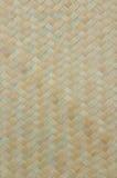 Van het de textuur natuurlijke bamboe van het Handcraftweefsel de muurachtergrond Stock Foto