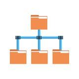 Van het de Toegangspictogram van omslaggegevens van de de Wolkencomputer Gegevensbestand van de de Verbindings synchroniseert het Stock Foto's