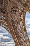 Van het de torensymbool van reiseiffel Parijs het dichte omhooggaande detail Royalty-vrije Stock Afbeeldingen
