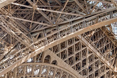 Van het de torensymbool van reiseiffel Parijs het dichte omhooggaande detail Stock Fotografie