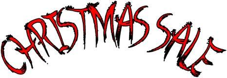 Van het de vakantieseizoen van de Kerstmisverkoop de illustratie van het de tekstteken Royalty-vrije Stock Afbeeldingen
