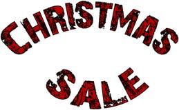 Van het de vakantieseizoen van de Kerstmisverkoop de illustratie van het de tekstteken Stock Fotografie