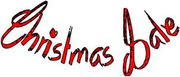 Van het de vakantieseizoen van de Kerstmisverkoop de illustratie van het de tekstteken Royalty-vrije Stock Fotografie