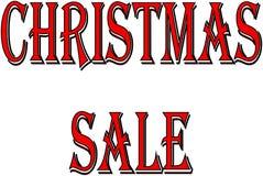 Van het de vakantieseizoen van de Kerstmisverkoop de illustratie van het de tekstteken Stock Foto