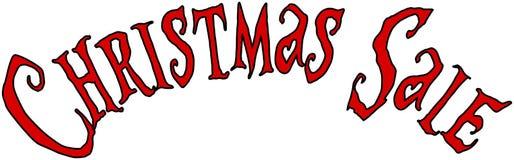 Van het de vakantieseizoen van de Kerstmisverkoop de illustratie van het de tekstteken Royalty-vrije Stock Afbeelding