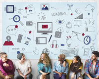 Van het de Verbindings Sociaal Netwerk van Internet Wifi de Technologieconcept royalty-vrije stock afbeelding