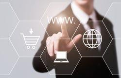 Van het de Verbindingsweb van WWW Internet het Concept van het de Technologienetwerk Stock Foto's