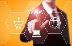 Van het de Verbindingsweb van WWW Internet het Concept van het de Technologienetwerk Stock Foto