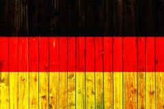 Van het de vlagsymbool van Duitsland van het achtergrond land de nationale Duitse Houten omheining Heart patriottische textiel va Stock Fotografie