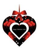 Van het de vormhart van de Dag van de valentijnskaart het decoratieve element Stock Afbeelding