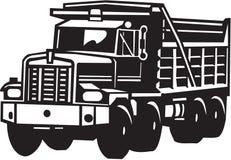 Van het de Vrachtwagen de Zware Materiaal van de bouwstortplaats Vectorillustratie stock illustratie