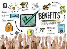 Van het de Winst Verdienend Inkomen van de voordelenaanwinst de Handen Vrijwilligersconcept vector illustratie