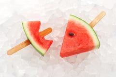 Van het de zomerfruit van de watermeloenijslolly yummy verse zoete dessert stock fotografie