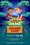 Van het de zomerkamp van het jonge geitje de affiche of de vlieger Royalty-vrije Stock Foto