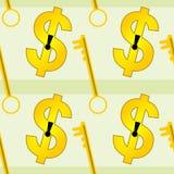 Van het dollarsleutelgat naadloos ontwerp als achtergrond Royalty-vrije Stock Foto's