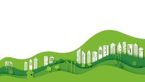 Van het Eco vriendschappelijk stedelijk stad en milieu concept vector illustratie