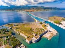Van het het Eilandpanorama van Lefkada de luchtmening Royalty-vrije Stock Afbeelding
