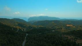 Van het eilandskopelos van Griekenland bos het centrumberg stock videobeelden