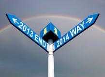 van 2013 het eind en van 2014 maniertekens Royalty-vrije Stock Fotografie