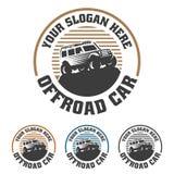 Van het embleem van de wegauto, offroad embleem, SUV-off-road malplaatje van het autoembleem, Stock Afbeelding