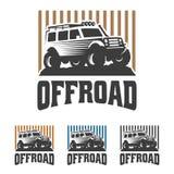 Van het embleem van de wegauto, offroad embleem, SUV-off-road malplaatje van het autoembleem, Stock Afbeeldingen