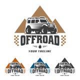 Van het embleem van de wegauto, offroad embleem, SUV-off-road malplaatje van het autoembleem, Royalty-vrije Stock Fotografie