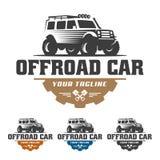 Van het embleem van de wegauto, offroad embleem, SUV-off-road malplaatje van het autoembleem, Stock Foto