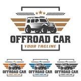 Van het embleem van de wegauto, offroad embleem, SUV-off-road malplaatje van het autoembleem, Royalty-vrije Stock Afbeelding