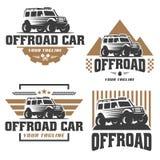 Van het embleem van de wegauto, offroad embleem, SUV-off-road malplaatje van het autoembleem, Royalty-vrije Stock Afbeeldingen
