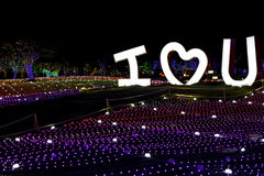 Van het festivalkorea van de Illumia Lichte Verlichting Nacht I LIEFDE U royalty-vrije stock foto