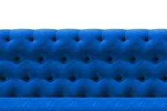 Van het het fluweelkussen van de luxe de Donkerblauwe bank achtergrond van het het close-uppatroon op wit Royalty-vrije Stock Afbeelding