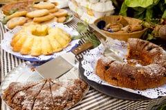 Van het gebakjesnoepjes van cakes de Mediterrane bakkerij Balearic Stock Foto's