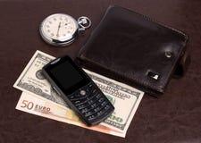 Van het gelduren van de beurs de mobiele telefoon Royalty-vrije Stock Foto
