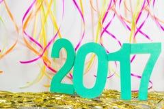 2017 van het gelukkige Nieuwjaar Stock Afbeelding