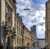 Van het geslagen spoor in München stock afbeeldingen