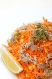 Van het graanbonen van de wortelen witn tonijn de citroenkruiden Stock Afbeeldingen