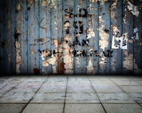 Van het Grungemetaal Binnenlands Stadium Als achtergrond Royalty-vrije Stock Afbeelding