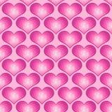 Van het Hart van de liefde Naadloze tegel Als achtergrond Royalty-vrije Stock Afbeeldingen