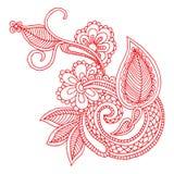 Het borduurwerkontwerp van de halslijn Stock Afbeelding