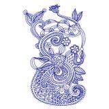 Het borduurwerkontwerp van de halslijn Stock Afbeeldingen
