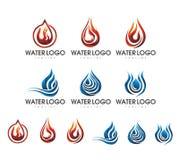 VAN HET HET EMBLEEMontwerp VAN HET VLAMMENwater REEKS 2 Stock Afbeelding