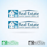 Van het het embleemontwerp van Real Estate de vectorreeks van de het malplaatjekleur Pictogram van het huis het abstracte concept Stock Foto