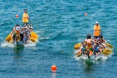 Van het het festivalras van draakboten het strand Hong Kong van Stanley Royalty-vrije Stock Afbeeldingen